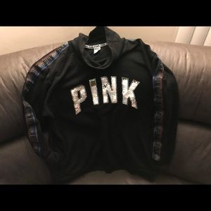 Pink Victoria's Secret cowl neck sequins